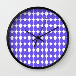Abstract floral pattern - blue and white. Wall Clock