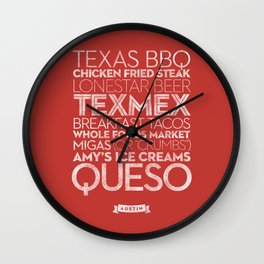 Austin — Delicious City Prints Wall Clock