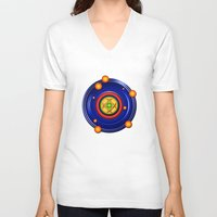 milky way V-neck T-shirts featuring The Milky Way by Robin Curtiss