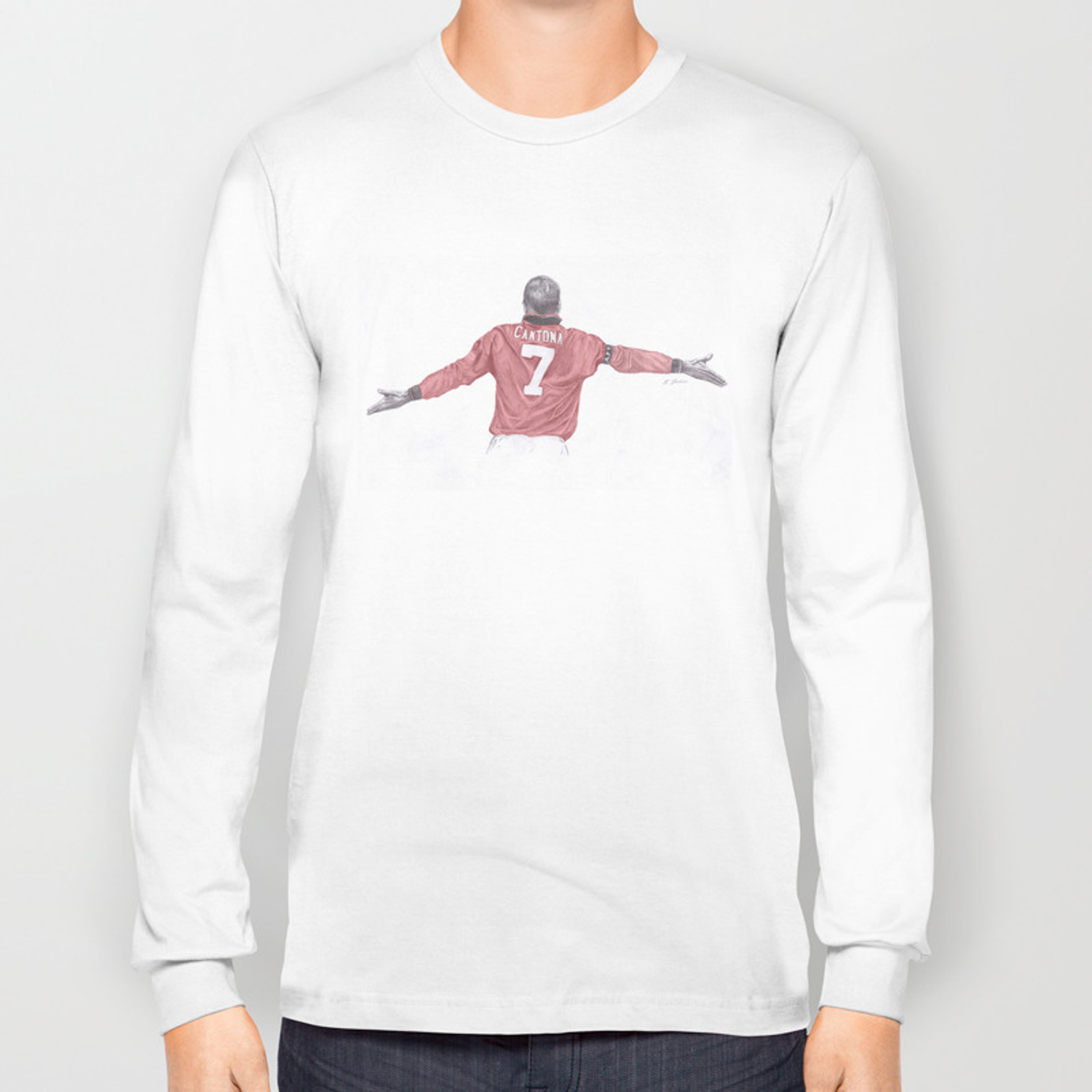 Eric Cantona Long Sleeve T Shirt By Thesketchbookartist Society6