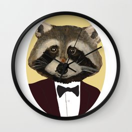 Sophisticated Raccoon Wall Clock