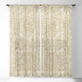 William Morris Vintage Bluebell Gold & Vellum Sheer Curtain