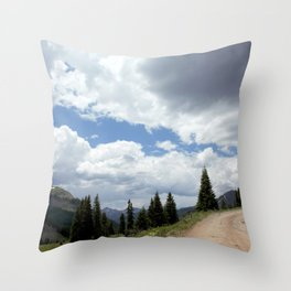 Black Bear Pass Road - Panorama from a Crest Throw Pillow