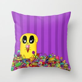 Jake loves his candy Throw Pillow