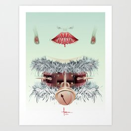 HOLIDAY SMILE Art Print