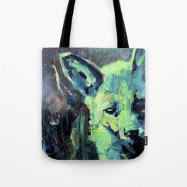 Abstract Green Fox Tote Bag