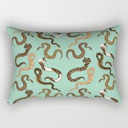 Plenty of Pythons - Pistachio Rectangular Pillow