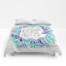Anything's Possible – Silver & Blue Comforters