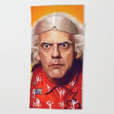 Back to the Future Doc Brown - Great Scott Beach Towel