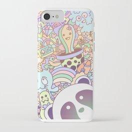 Kawaii panda pastel cute doodle iPhone Case