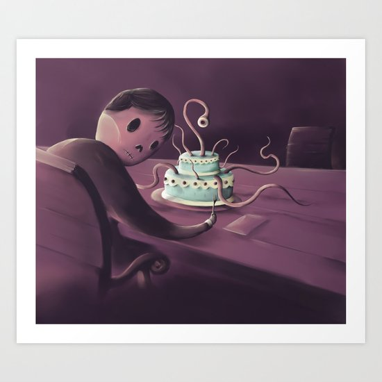 Cake time Art Print