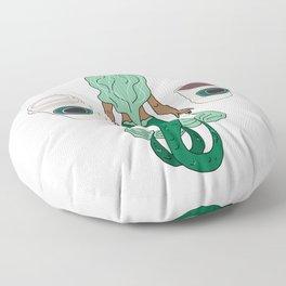 Mermaid Coffee Butt Dark - Fast Food Butts Floor Pillow