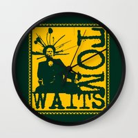 tom waits Wall Clocks featuring Tom Waits by Silvio Ledbetter