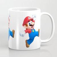 mario Mugs featuring Mario by Maxvision