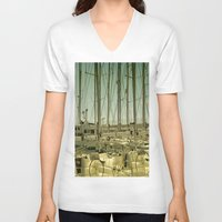 marina V-neck T-shirts featuring marina by gzm_guvenc