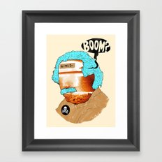 BOOM? Framed Art Print