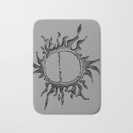 Liquid Sun on Lite Grey Bath Mat
