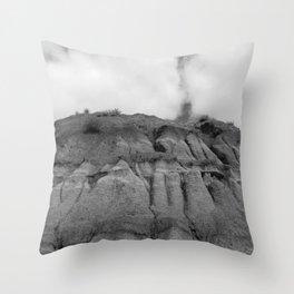 Horseshoe Canyon 2 Drumheller Badlands Throw Pillow