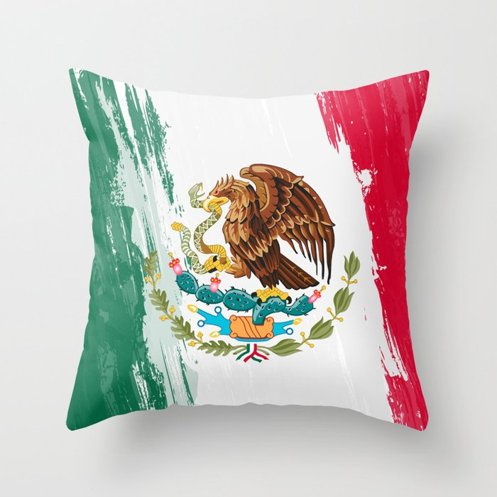 Mexico S Flag Design Throw Pillow By Splastroke Society6