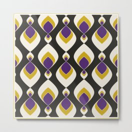 Colorful retro pattern . Metal Print