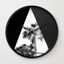 Form & Palm Trees Wall Clock