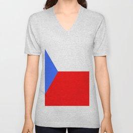 flag of Czech 2 -Czechia,Česko,Bohemia,Moravia, Silesia,Prague. Unisex V-Neck
