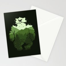 Hunting Season - Green Stationery Cards