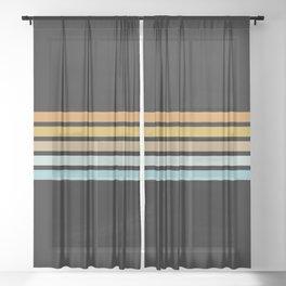 Retro Sunshine Stripes Sheer Curtain