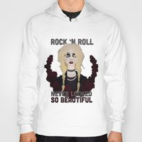 "rock n roll Hoodies featuring Rock 'n Roll ""Beauty"" by joeyj"