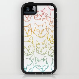 Contour Cats iPhone Case