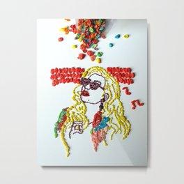 Iggy A Fruity Pebbles Art Metal Print