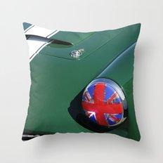 Union Jack Headlight Throw Pillow