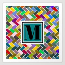 M Monogram Art Print