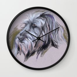 Wolfhound Portrait Wall Clock