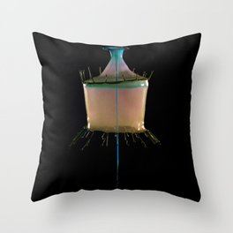 Creamy Collision Throw Pillow