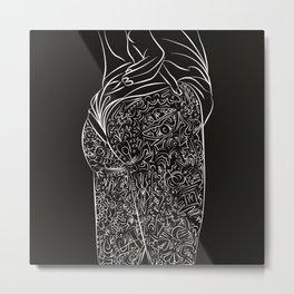 Woman's body Metal Print