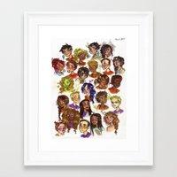 heroes of olympus Framed Art Prints featuring Heroes of Olympus  by DellBelle