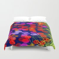 eggs Duvet Covers featuring Eggs by Marven RELOADED