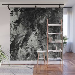 Impossibility - Textured, black and white abstract Wall Mural
