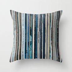 Old Vinyl Throw Pillow