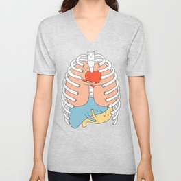 Hugs keep us alive Unisex V-Neck