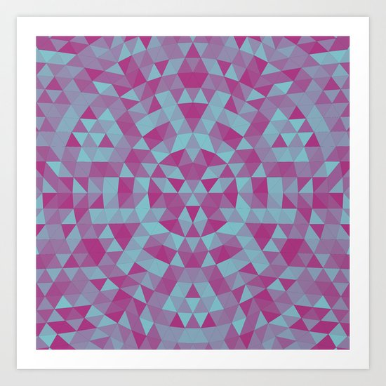 Triangle mandala 2 Art Print
