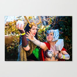 Thor and Loki Canvas Print