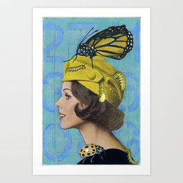 Woman with Butterfly Art Print