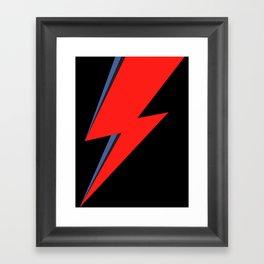 David Bowie Lightning bolt Framed Art Print
