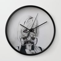 fallout Wall Clocks featuring The Fallout by JKNIGHTART