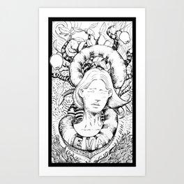 Eva and the snake Art Print