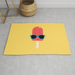Red Ice Pop Wearing Blue Sunglasses Rug
