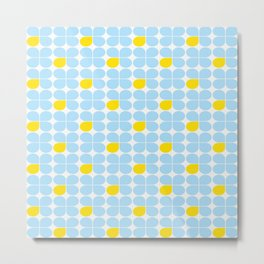 Retro Stig lindberg Vintage posters yellow blue Metal Print