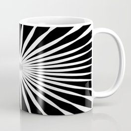 Starburst Black and White Pattern Coffee Mug